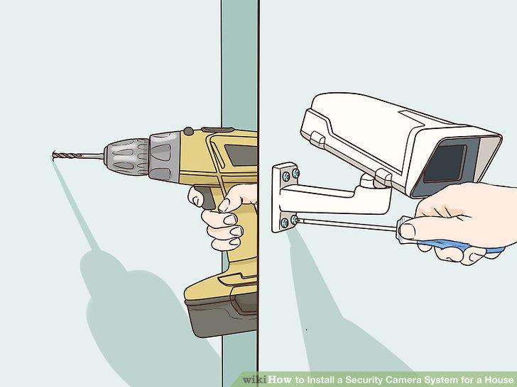 Montieren Sie Ihre Kamera an der Wand.