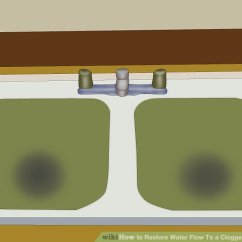 Unclog Kitchen Drain Tables Set How To Restore Water Flow A Clogged 15 Steps Image Titled Step 1