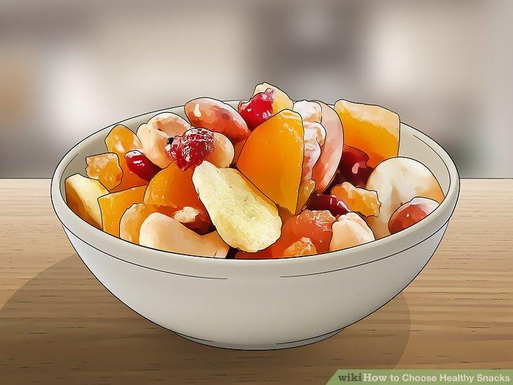 Wählen Sie Snacks auf Obstbasis.
