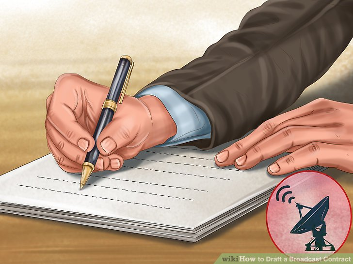 Unterschreibe die Vereinbarung.
