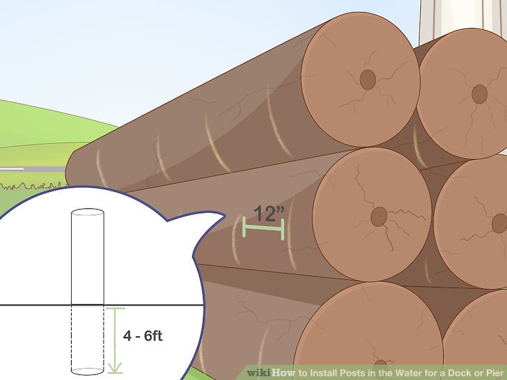 Spray paint your pilings at 12 in (30 cm) intervals to monitor their depth.