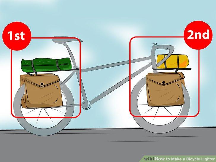 Erwägen Sie Fronttaschen, um Ihr Gewicht gleichmäßig zu verteilen.