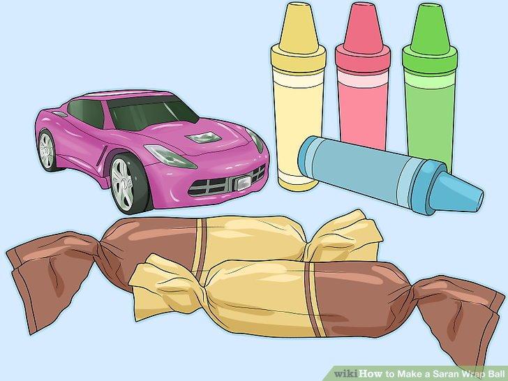 Wählen Sie Süßigkeiten und billiges Spielzeug für die äußeren Schichten.