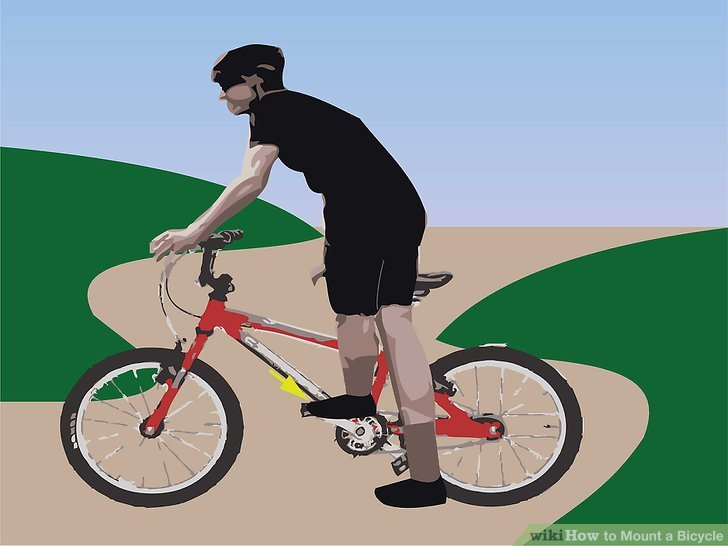 Setzen Sie Ihren linken Fuß auf das linke Pedal.