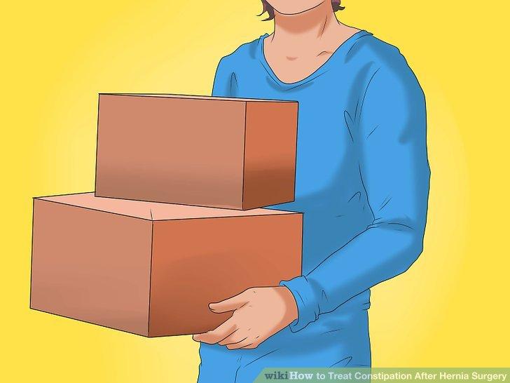 Vermeiden Sie es, sich zu überanstrengen oder schwere Gegenstände aufzunehmen.