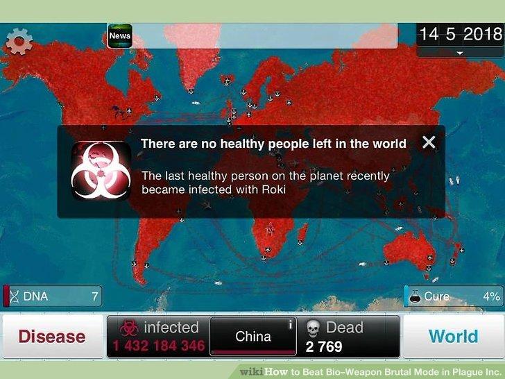 Warten Sie, bis sich die Welt infiziert.
