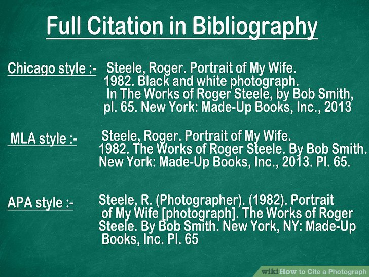3 Ways to Cite a Photograph  wikiHow