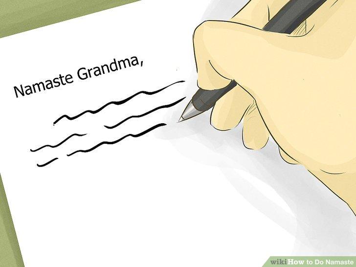 Schreiben Sie einem Familienmitglied, einem Freund oder einem angesehenen Ältesten.