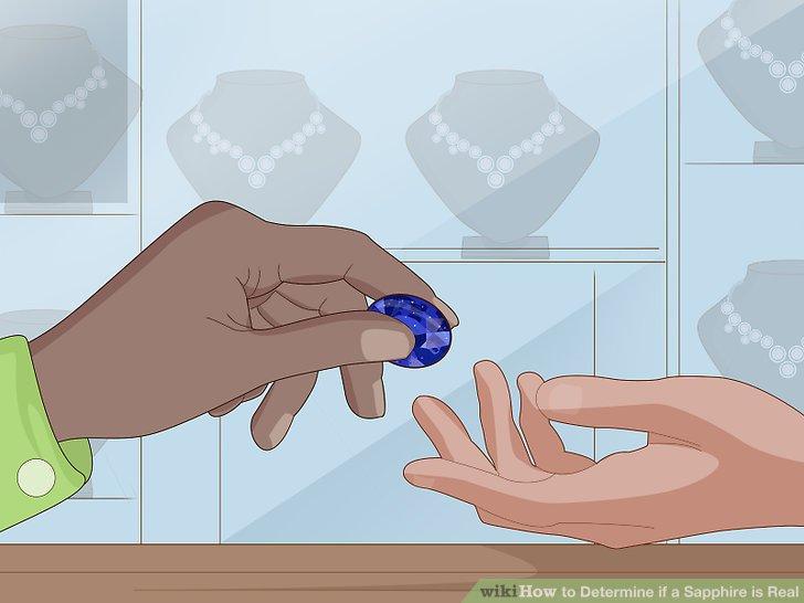 Fragen Sie den Juwelier, ob ein natürlicher Saphir behandelt wurde.