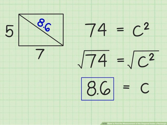 24 Ways to Find the Measurement of the Diagonal Inside a Rectangle