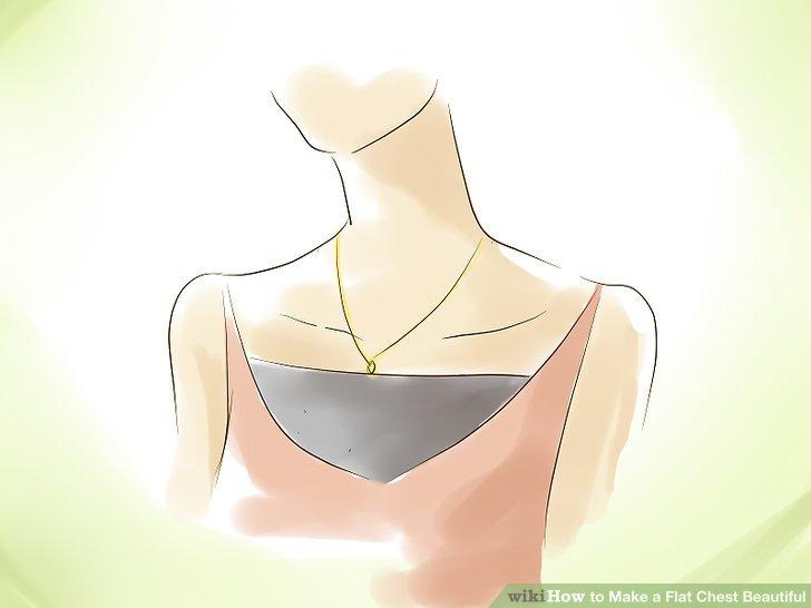 Betrachten Sie Halsketten mit dünnen Ketten und kleinen Anhängern, um Ihre Büste im Vergleich größer erscheinen zu lassen.