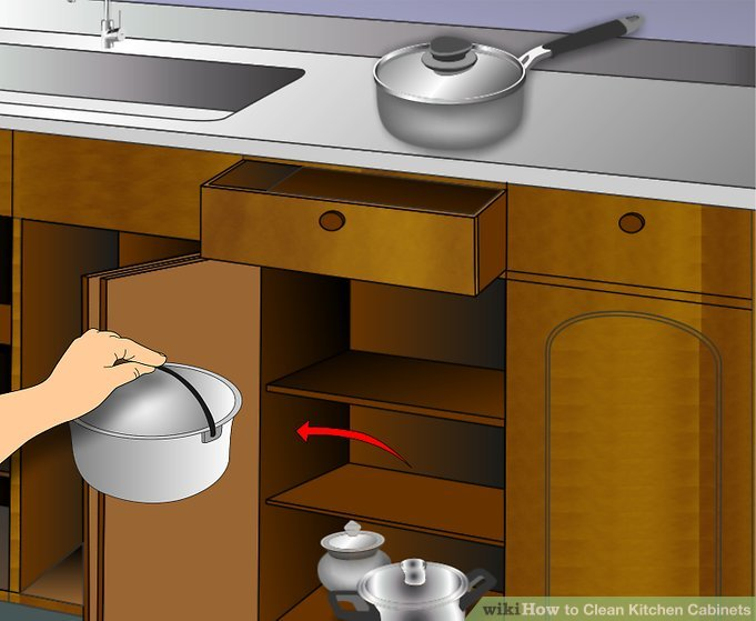 3 Ways To Clean Kitchen Cabinets WikiHow