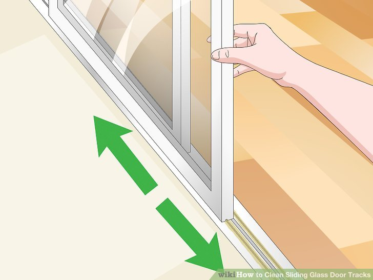 how to how to clean sliding glass door tracks