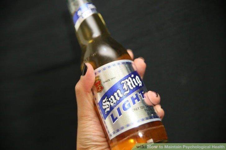 Begrenzen Sie Ihren Alkoholkonsum.