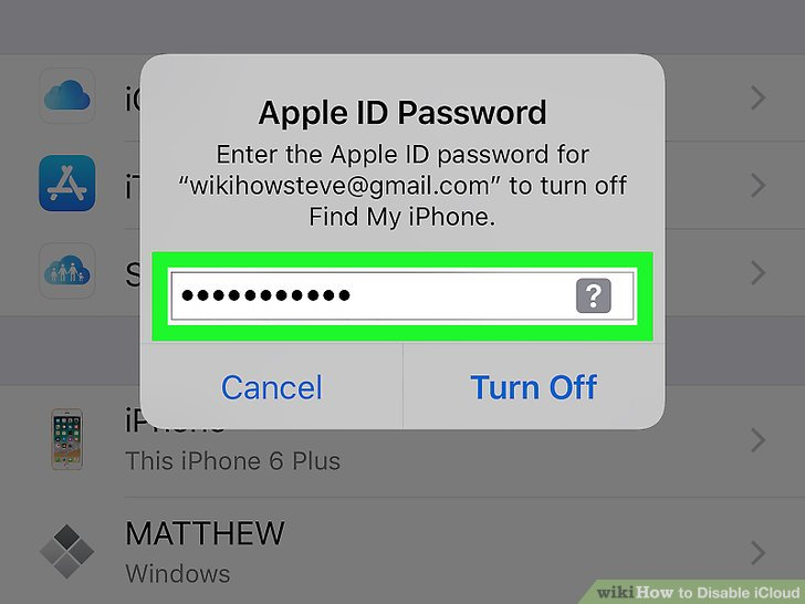 Madison : How to disable find my iphone without icloud password