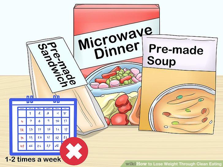Reduzieren Sie verpackte Lebensmittel und Junk-Food 1-2 Mal pro Woche.