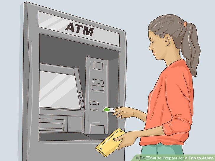 Suchen Sie nach Geldautomaten, die Sie verwenden können.