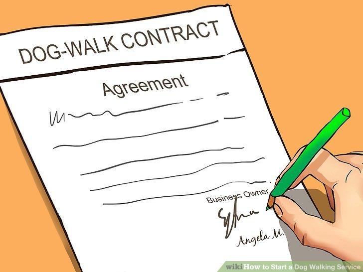 Erstellen Sie einen Vertrag.