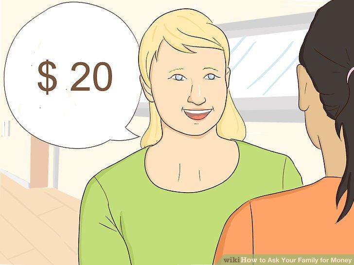 Fragen Sie die Person nach dem genauen Betrag, den Sie benötigen.