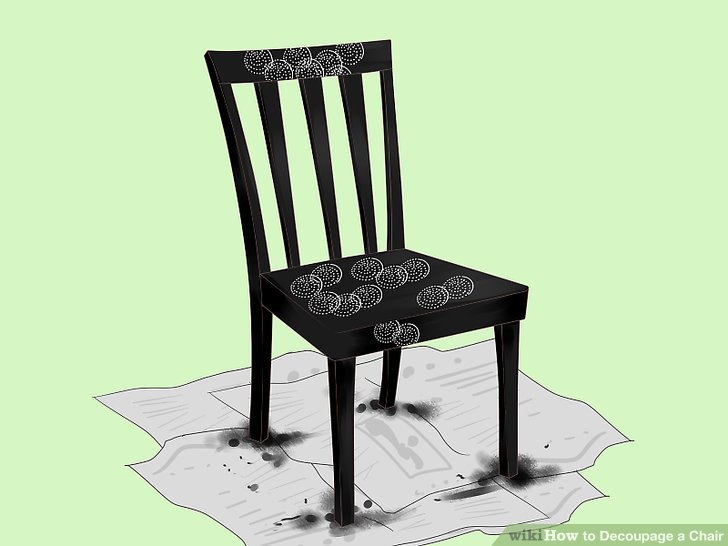 Wiederholen Sie den Vorgang für alle verbleibenden Teile des Decoupage-Designs.