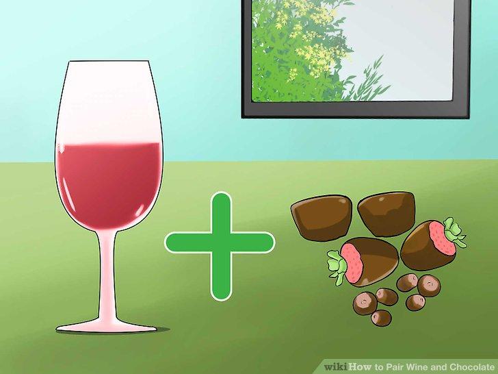Passen Sie den Wein mit anderen Aromen in Ihrer Schokolade an.