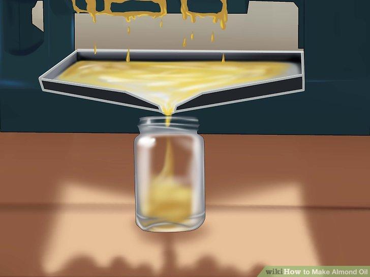 Verwenden Sie eine Tasse, um das Öl aufzufangen.
