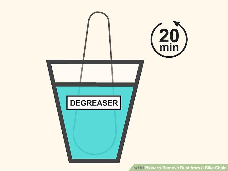 Ketten mit starkem Schmutz einweichen und 20 Minuten lang im Entfetter aufbauen.