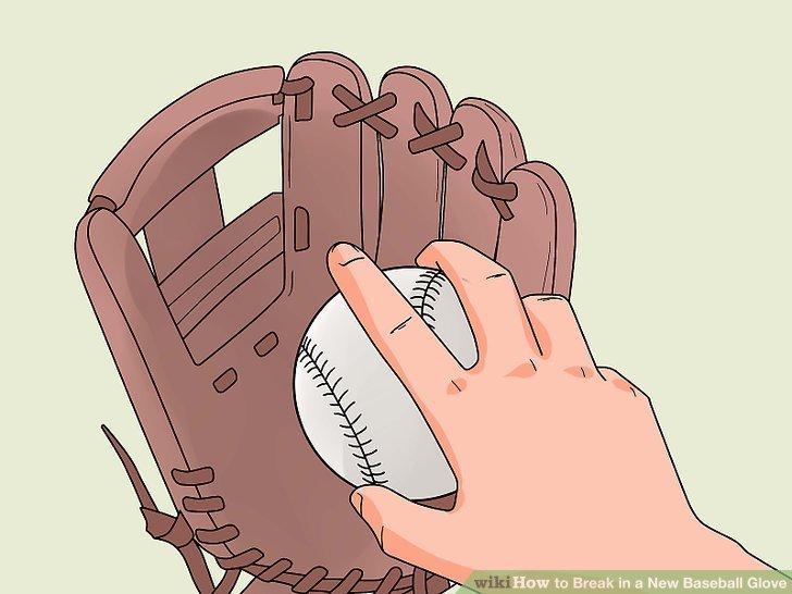 Stecke einen Ball in den Handschuh.