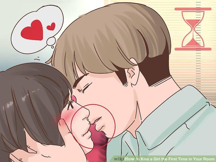 Lehne dich langsam nach vorne und küsse sie.