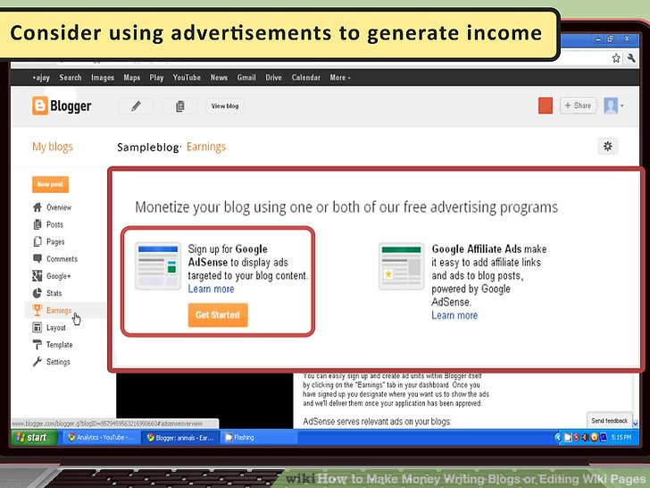 Erwägen Sie die Verwendung von Werbung, um Einkommen zu generieren.