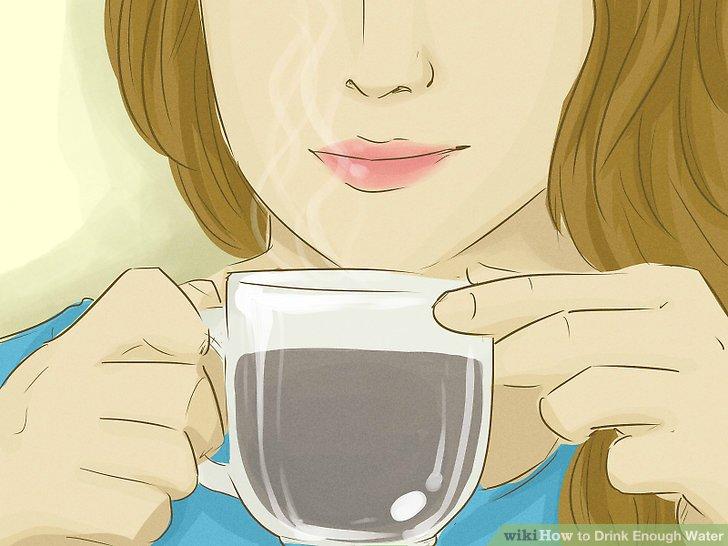 Trinken Sie Saft, Kaffee oder Tee.