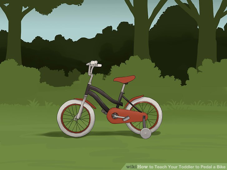 Ziehen Sie in Betracht, auf dem Fahrrad Ihres Kindes Stützräder zu montieren.