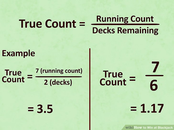 Keep a true count.