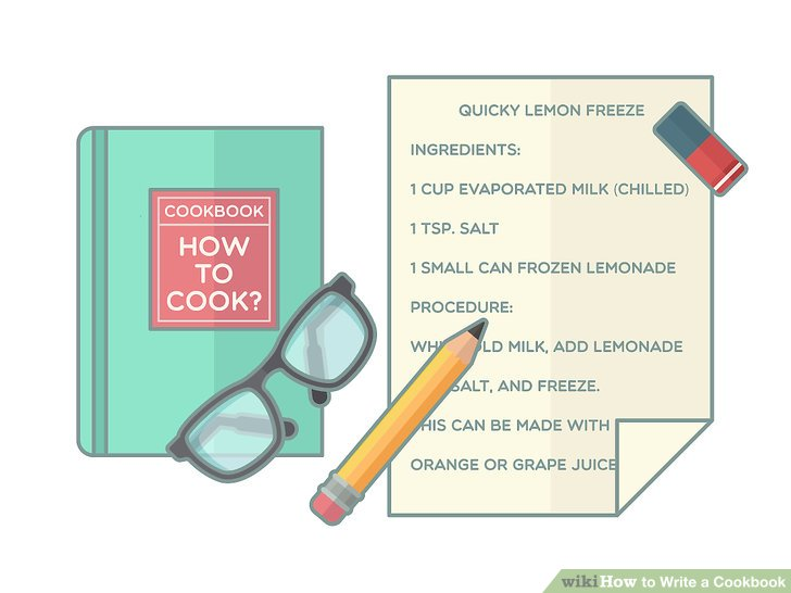 Schreiben Sie jedes Rezept so, wie es im Kochbuch erscheinen soll.