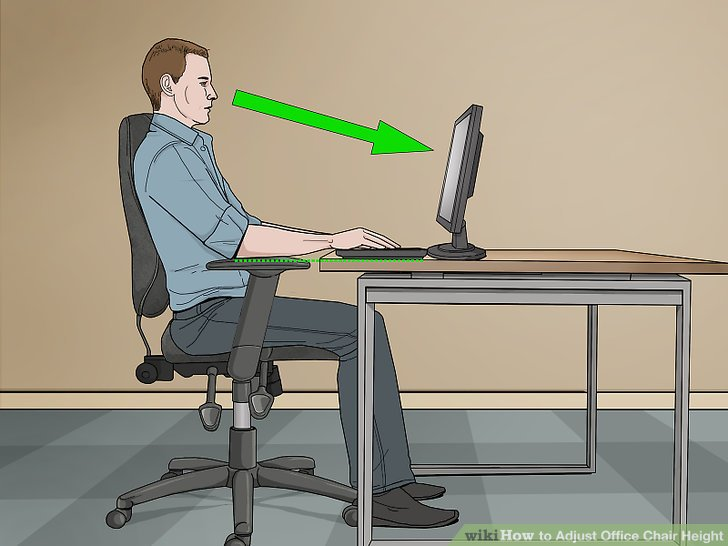 office chair not revolving navy banquet covers 3 ways to adjust height wikihow image titled step 4