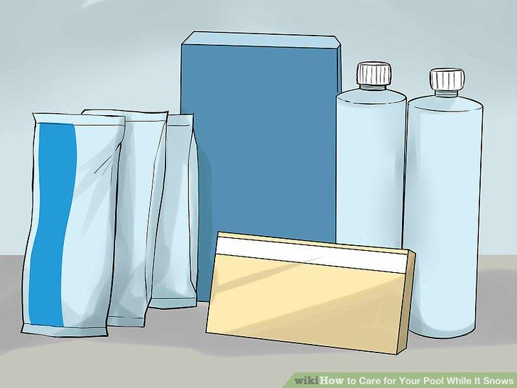 Fügen Sie gegebenenfalls winterfeste Chemikalien hinzu.