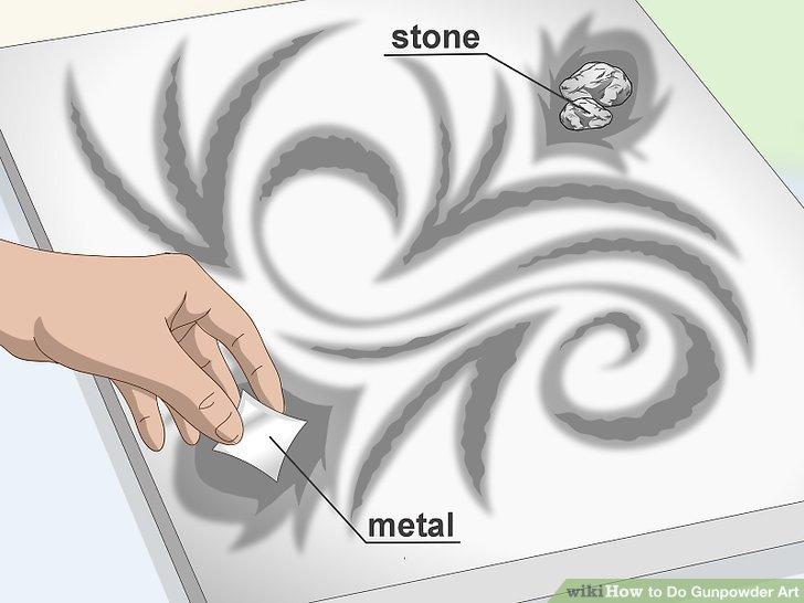 Gestalten Sie Entwürfe mit Steinen, Brettern oder Metallteilen.