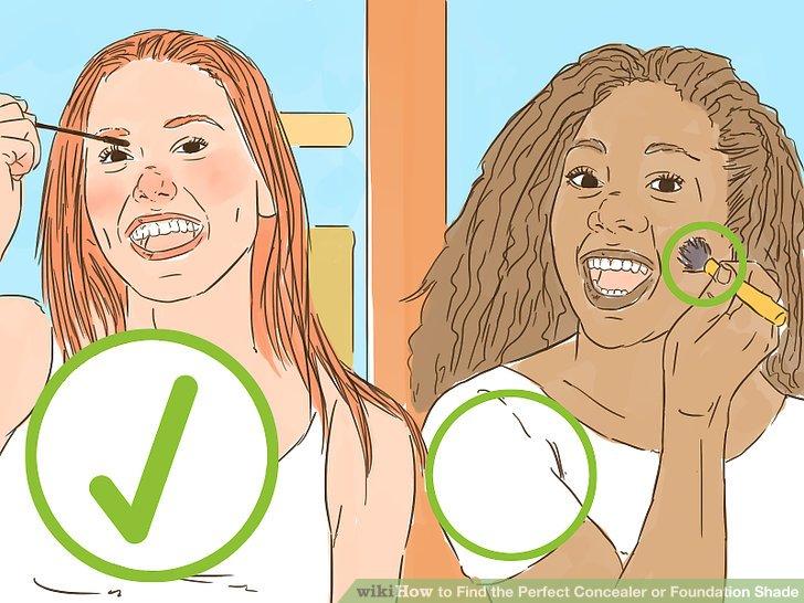 Tragen Sie Weiß und stellen Sie sicher, dass das Make-up bei guter Beleuchtung getestet wird.