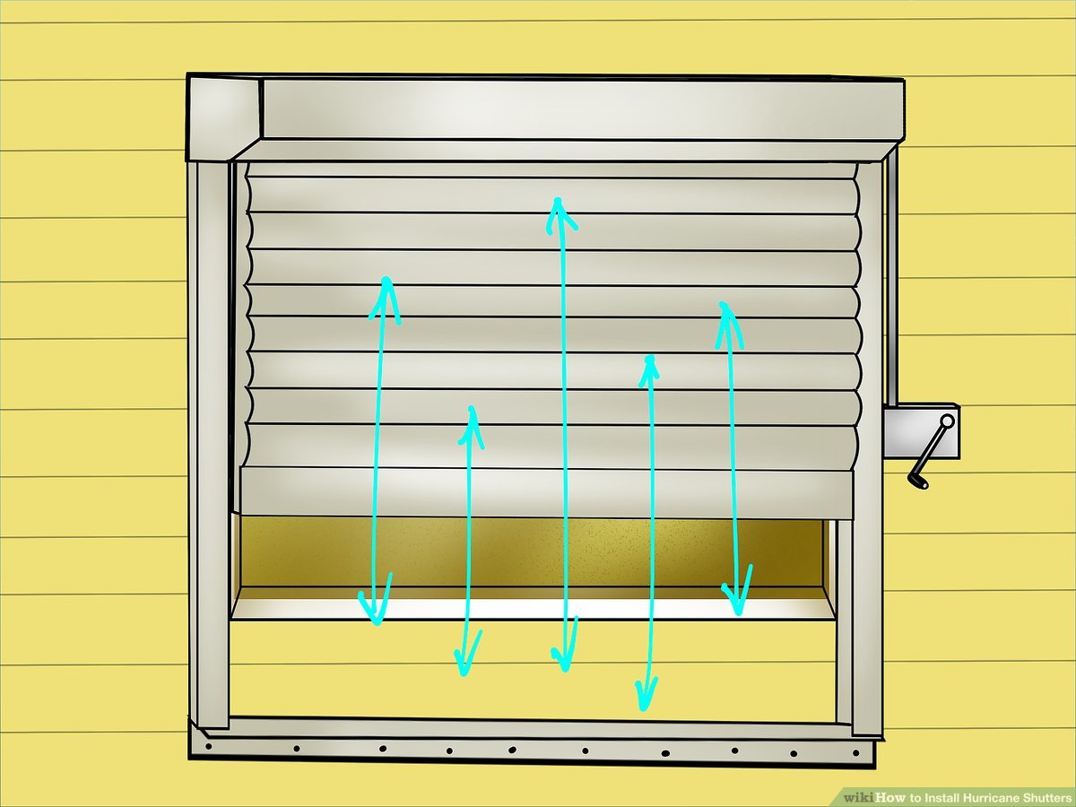 hight resolution of wiring diagram for hurricane shutters wiring diagram rows3 ways to install hurricane shutters wikihow wiring diagram