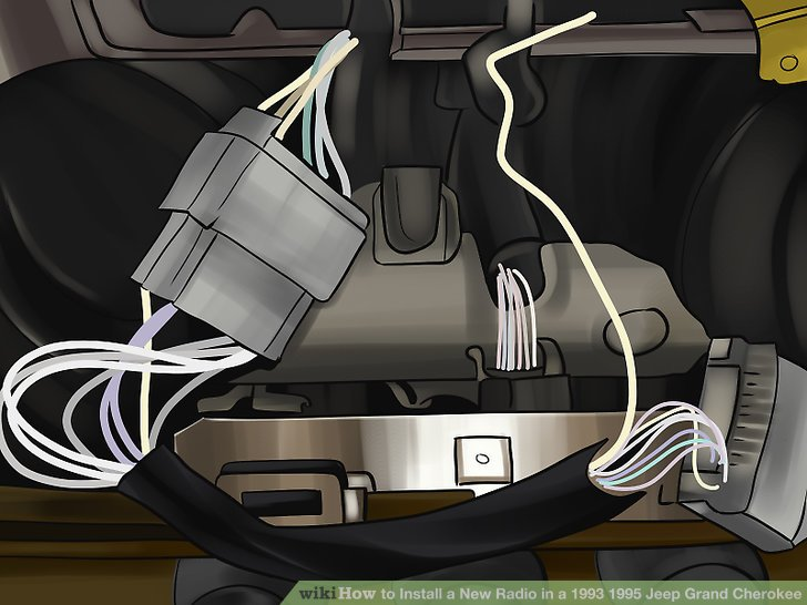 1995 jeep cherokee radio wiring diagram 2016 honda civic airbag how to install a new in 1993 grand image titled step 21