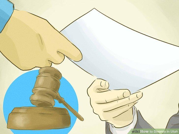 Legen Sie Ihre Scheidungsformulare ein.