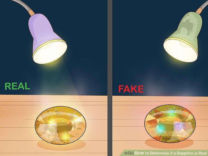 Beobachten Sie, wie das Licht vom Saphir reflektiert wird.