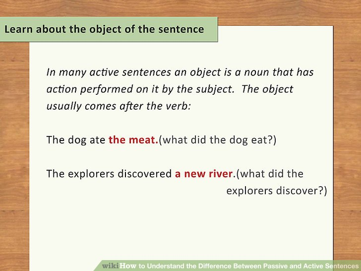 Learn about the object of the sentence.