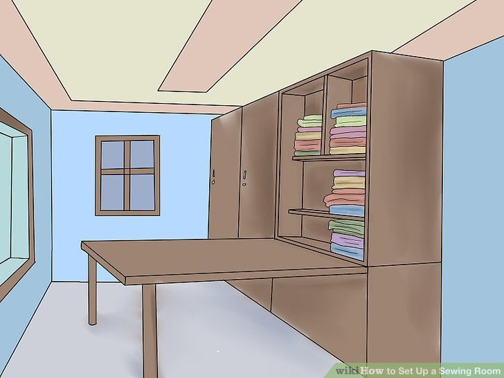 Determine what equipment and furniture you want to place your sewing room.