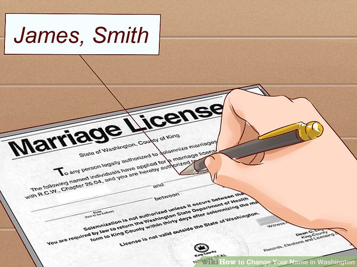 Sign your marriage license with your old name.