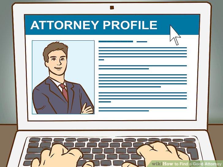 Überprüfen Sie die Website jedes Anwalts.