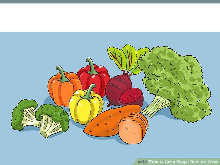 Gemüse auftanken.