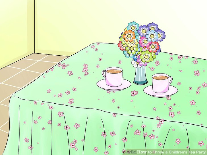 Dress up the table.