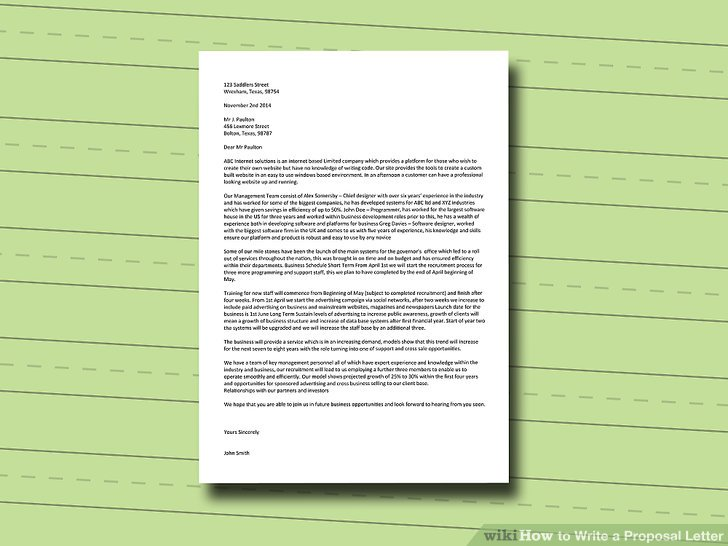 How To Write A Proposal Letter With Pictures WikiHow