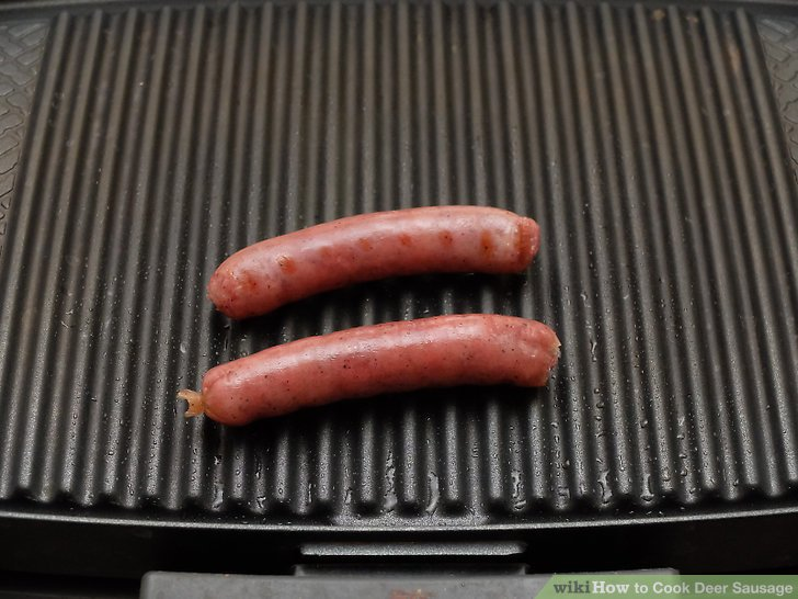 Grill your sausages until they're 160°F (71°C) inside.